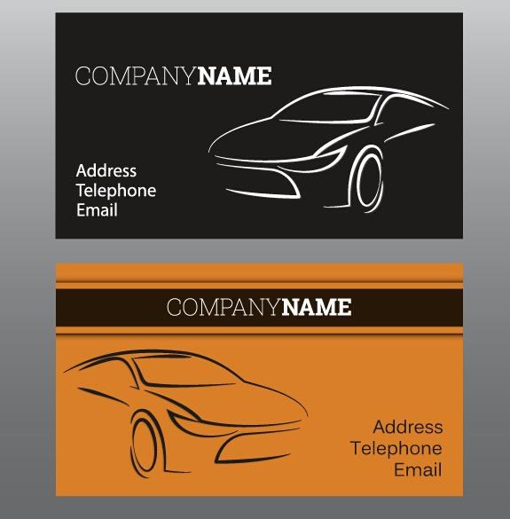 Creative Car Business Cards Vector 03