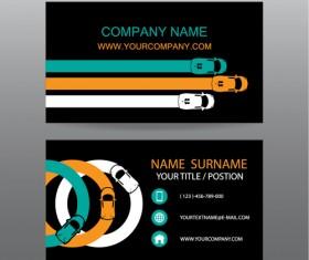 Creative car business cards vector 04
