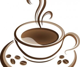 Cup with coffee abstract illustration vector 05