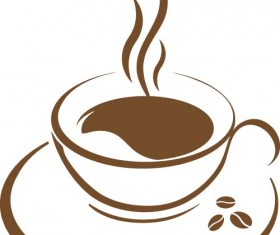 Cup with coffee abstract illustration vector 06