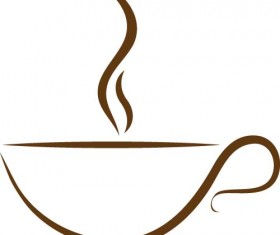 Cup with coffee abstract illustration vector 10