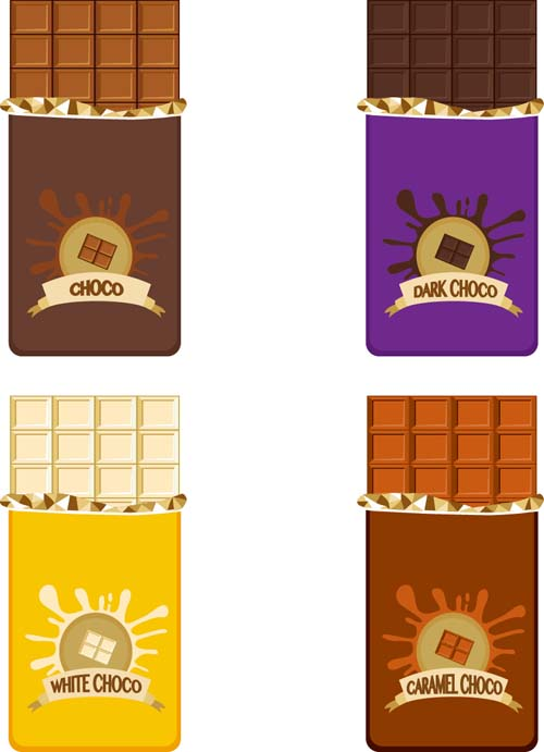 Delicious chocolate bar vector design 05 - Vector Food free download