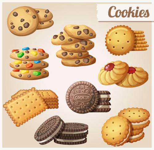 Delicious Cookies Vectors Design 01 Vector Food Free
