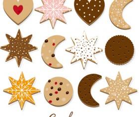 Delicious cookies vectors design 03