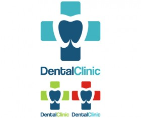 Dental clinic logo creative vector 01