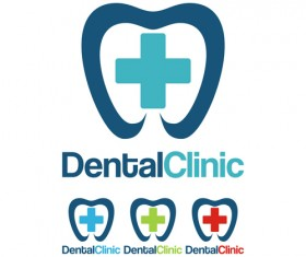 Dental clinic logo creative vector 02