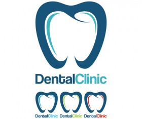 Dental clinic logo creative vector 03
