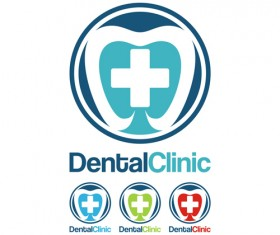 Dental clinic logo creative vector 04