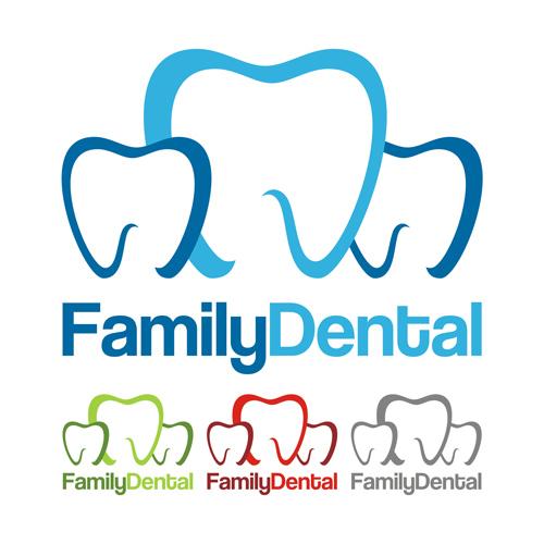 family dental healt logo design vector vector logo free