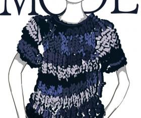 Fashion girls hand drawn illustration vector 01