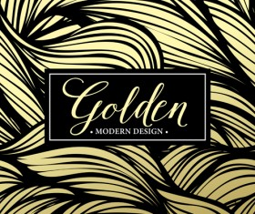 Floral seamless pattern with gold frame vectors 03