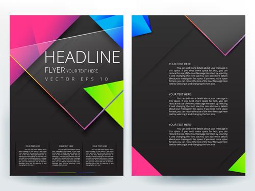Flyer Or Brochure Cover Modern Design Vector 03 Vector