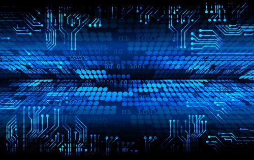 Futuristic digital world concept template vectors 05 - Vector ...
