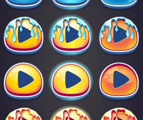 Game buttons icons imarmalade styles vector
