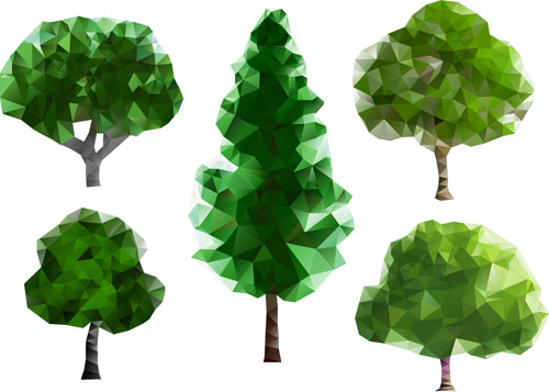 ... shapes tree vector illustration 02 - Vector Plant free download