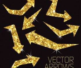 Gold bling arrows vector