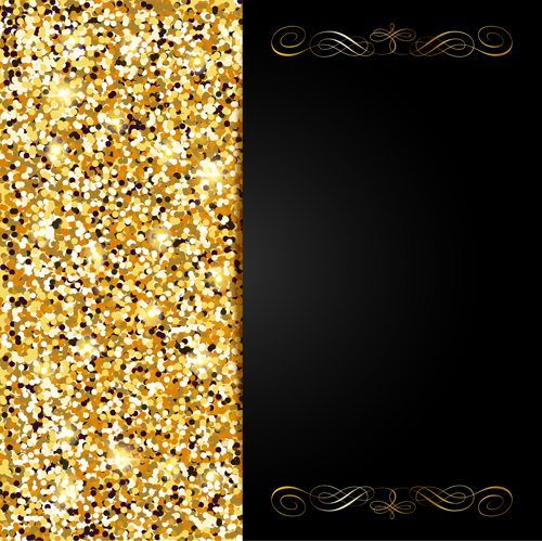 Golden with black vip invitation card background vector 01 vector golden with black vip invitation card background vector 01 stopboris Images