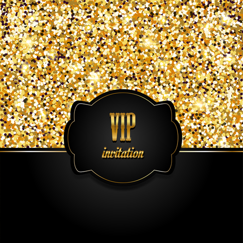 Golden with black vip invitation card background vector 04 golden with black vip invitation card background vector 04 stopboris Image collections