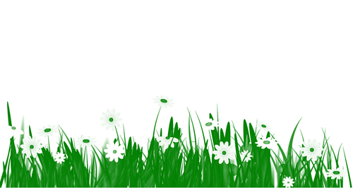 animated grass with flowers