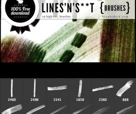 Hand drawn Lines Photoshop Brushes