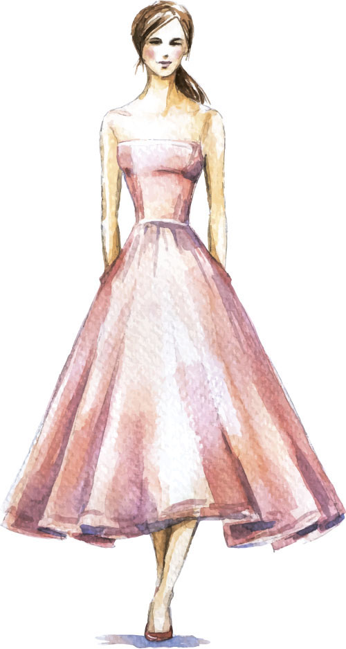 Hand Drawn Fashion Women Illustration Vector 11 Vector