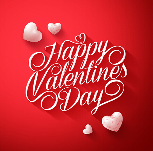 Happy Valentines day text with heart balloons vector 01 - Vector Font ...