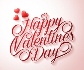 Happy Valentines day text with heart balloons vector 04