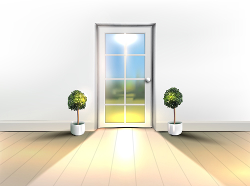 house interior corner background vectors set 02 vector