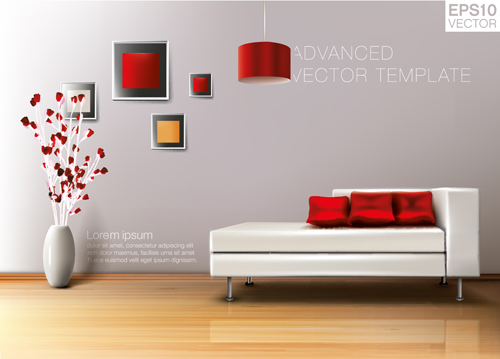 House interior corner background vectors set 09 - Vector ...