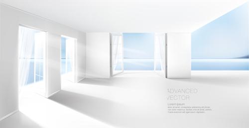 House interior corner background vectors set 14 - Vector Background ...