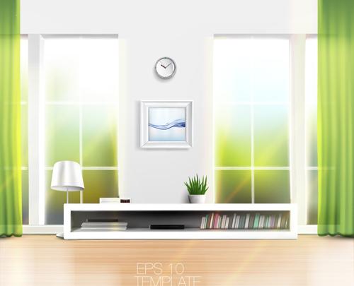 House Interior Corner Background Vectors Set 17 Free Download