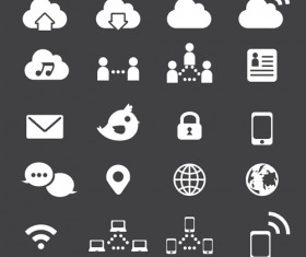 Internet icon vector set