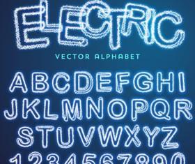Lightning text effect vector 02