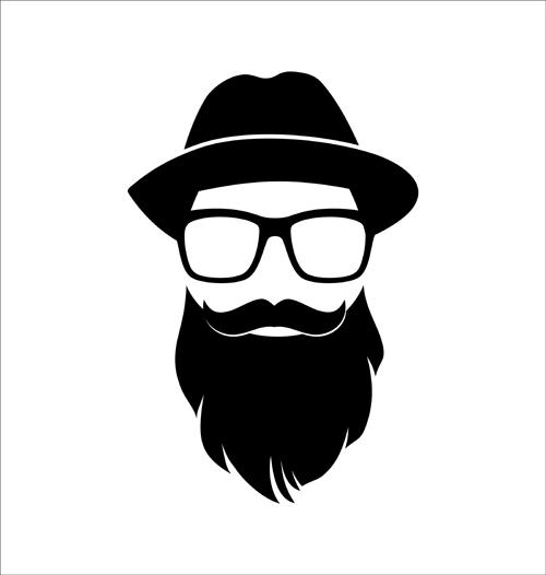 Hipster Beard Vector |...
