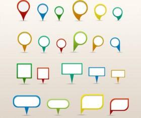 Map pins psd graphics