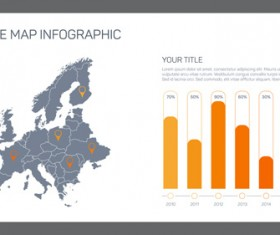 Map with infographic business templates vector 01