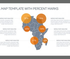 Map with infographic business templates vector 04