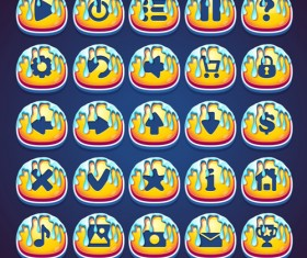 Marmalade style web video game icons set