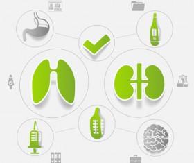 Medicine infographic with sticker vector set 11