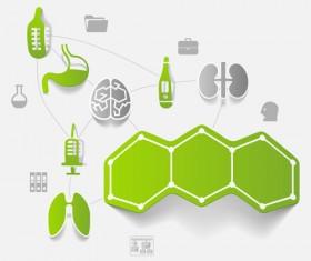 Medicine infographic with sticker vector set 18