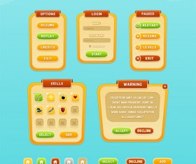 Mobile Game GUI PSD Design