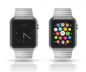 Modern smart watch template vector 01