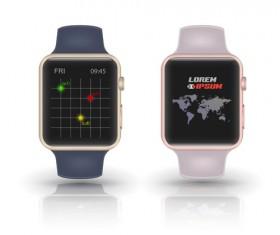 Modern smart watch template vector 02