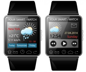 Modern smart watch template vector 03