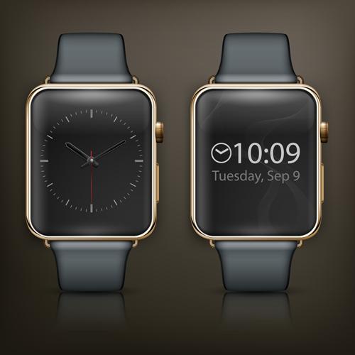 Modern smart watch template vector 04