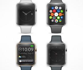 Modern smart watch template vector 05