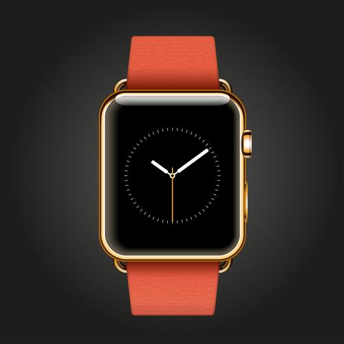 Modern smart watch template vector 06