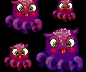 Octopus catoon character vector 03