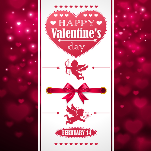 Ornate Valentines Day Invitation Card Creative Vector Free Download