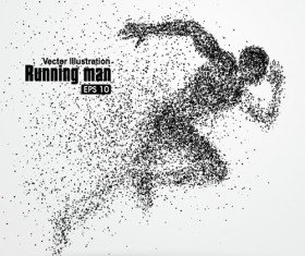 Particle composition athlete vector illustration 07
